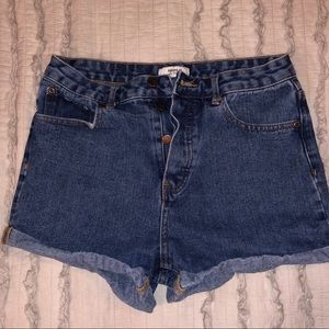 Forever 21 Cuffed Jean Shorts